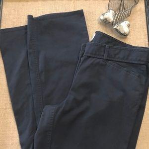 Loft Black Straight Leg Pants Size 10